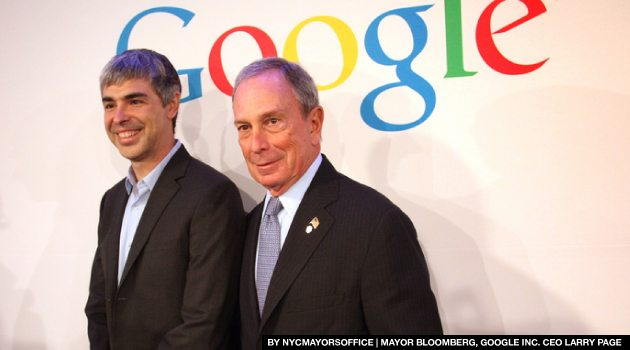 Google NYC MAYOR BLOOMBERG GOOGLE INC CEO LARRY PAGE Google Palo Alto Google Loans Cornell NYC Tech Office Space for Upcoming Expansion