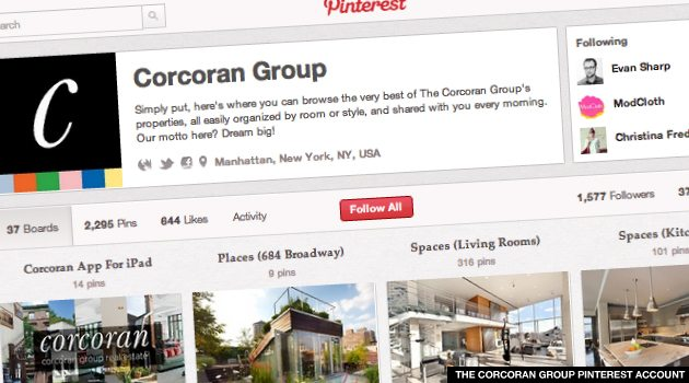 THE CORCORAN GROUP PINTEREST ACCOUNT 3 Reasons NYC Real Estate Brokers Need a Pinterest Account