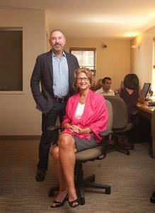 Paul Purcell and Kathy Braddock, heads of Rutenberg