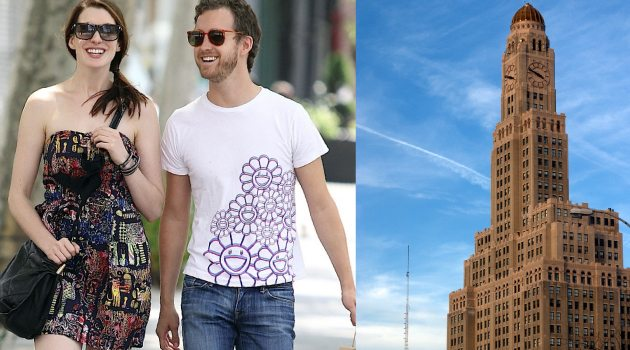 Anne-Hathaway--Adam-Shulman-The-Clock-Tower-Brooklyn