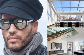 Lenny Kravitz's SoHo Penthouse at 30 Crosby Street | Image Source: Luxist