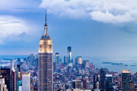 Empire State Building Takes New LED Lighting Technology to Display 2012 Presidential Race