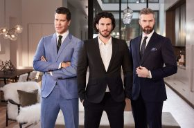 MILLION DOLLAR LISTING NEW YORK -- Season:6 -- Pictured: (l-r) Fredrik Eklund, Steven Gold, Ryan Serhant -- (Photo by: Kurt Iswarienko/Bravo)