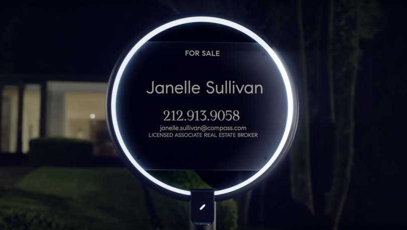 Compass sign real estate, real estate tech