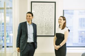 Compass CEO Robert Reffkin alongside COO Maëlle Gavet (Credit: Medium, Compass)