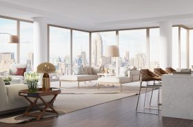 Rendering Central Park Apartment. (Behance)