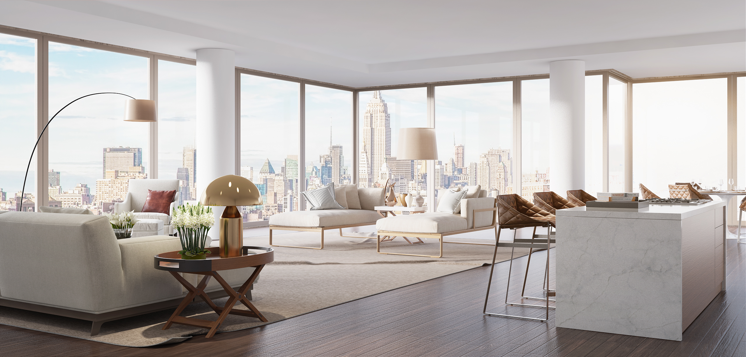 Rendering Central Park Apartment Behance New York
