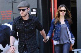 Justin Timberlake and Jessica Biel NYC