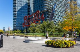 Gantry Plaza State Park, Neon Pepsi-Cola sign. Long Island City, Queens. Robert Wash