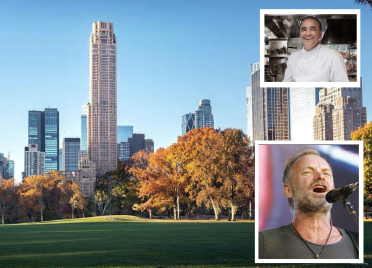 220 Central Park South welcomes Rocker Sting & a residents only Jean-Georges restaurant