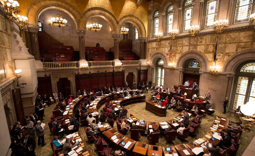 Image of NY State Senate courtesy of cityandstateny.com