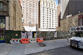 The current empty lot at 131-141 E 47th Street - Image by Google Maps